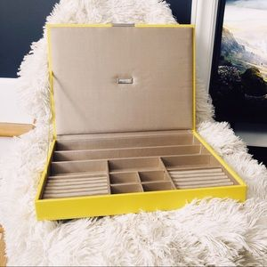 Wolf Designs yellow stackable jewelry box